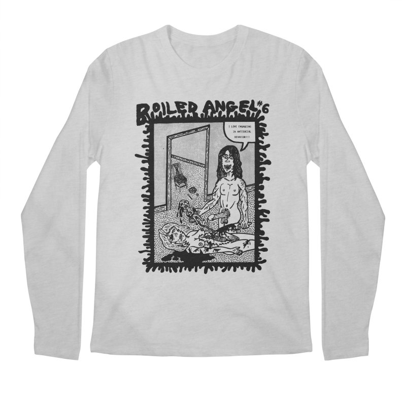 Mike Diana - Boiled Angel #6 Cover Men's Regular Longsleeve T-Shirt by Mike Diana T-Shirts! Horrible Ugly Heads Limited E