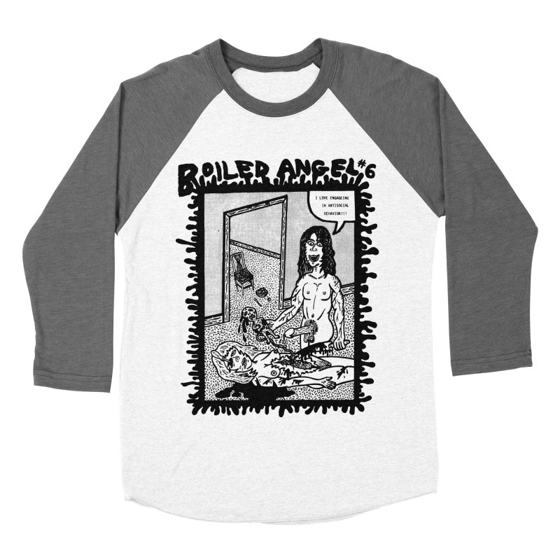 Mike Diana - Boiled Angel #6 Cover Men's Baseball Triblend Longsleeve T-Shirt by Mike Diana T-Shirts! Horrible Ugly Heads Limited E
