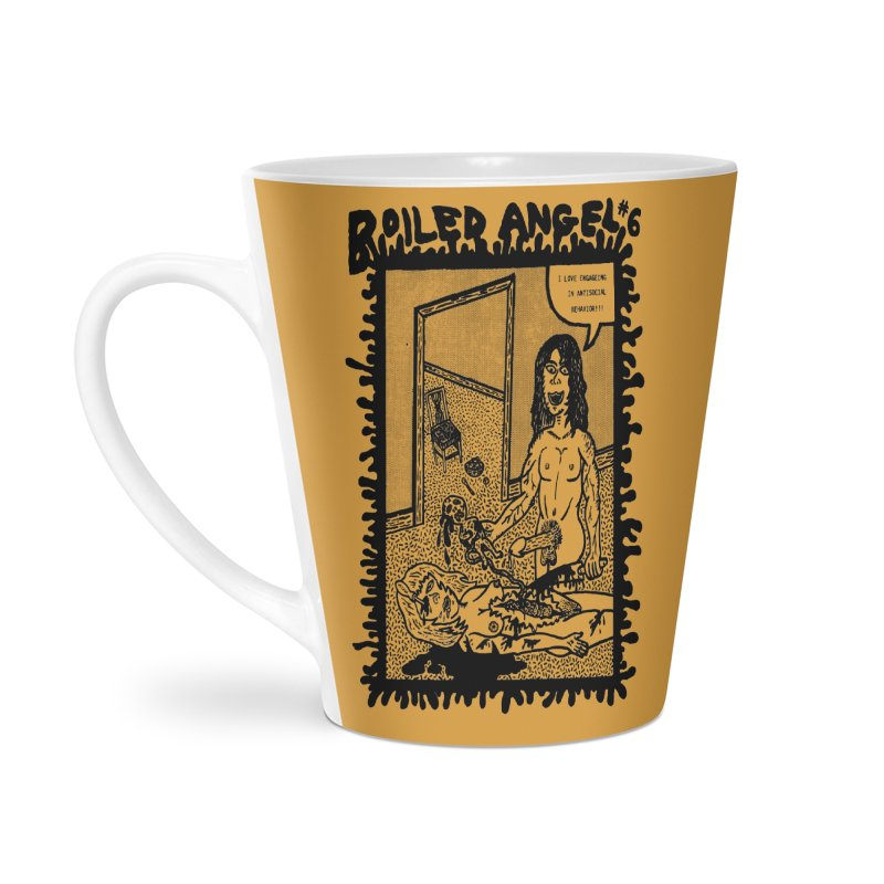Mike Diana - Boiled Angel #6 Cover Accessories Latte Mug by Mike Diana T-Shirts Mugs and More!