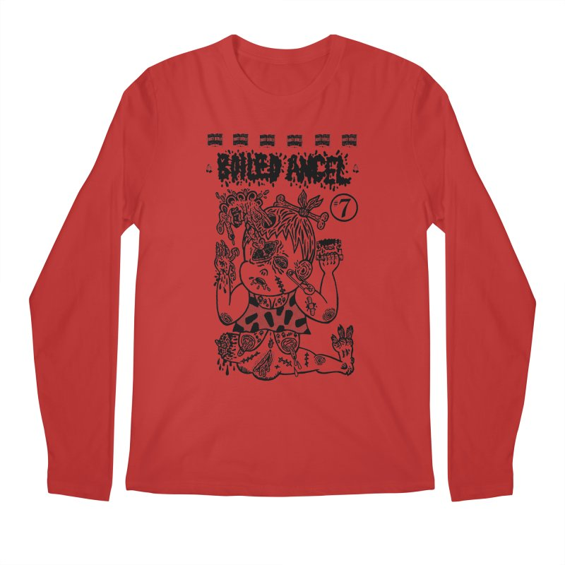 Mike Diana - Boiled Angel #7 Cover Men's Regular Longsleeve T-Shirt by Mike Diana T-Shirts! Horrible Ugly Heads Limited E