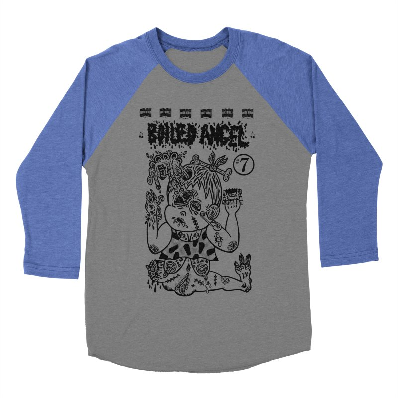 Mike Diana - Boiled Angel #7 Cover Men's Baseball Triblend Longsleeve T-Shirt by Mike Diana T-Shirts Mugs and More!