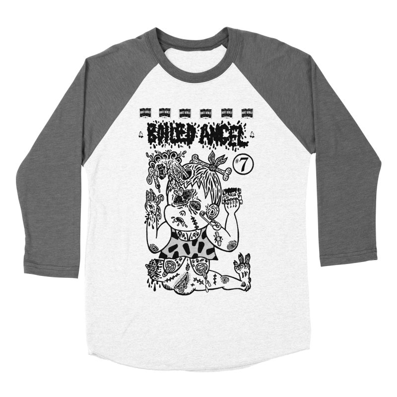 Mike Diana - Boiled Angel #7 Cover Men's Baseball Triblend Longsleeve T-Shirt by Mike Diana T-Shirts! Horrible Ugly Heads Limited E