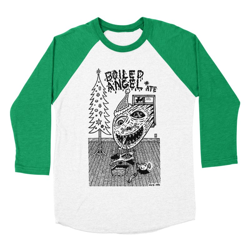 Mike Diana - Boiled Angel #8 Cover Men's Baseball Triblend Longsleeve T-Shirt by Mike Diana T-Shirts! Horrible Ugly Heads Limited E