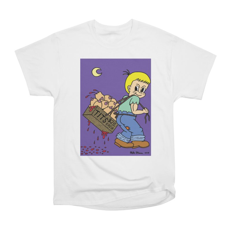 Mike Diana - Tit Boy Men's Heavyweight T-Shirt by Mike Diana T-Shirts Mugs and More!
