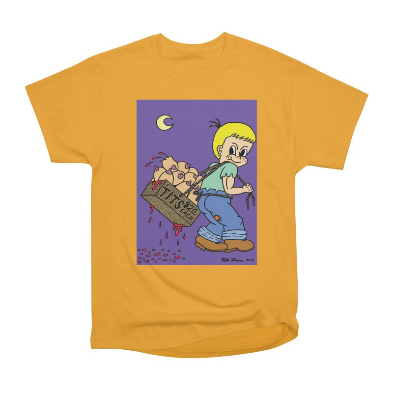 Mike Diana - Tit Boy Men's Heavyweight T-Shirt by Mike Diana T-Shirts! Horrible Ugly Heads Limited E