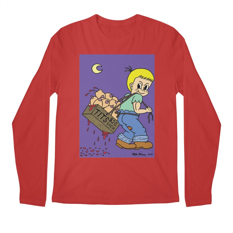 Mike Diana - Tit Boy Men's Regular Longsleeve T-Shirt by Mike Diana T-Shirts! Horrible Ugly Heads Limited E