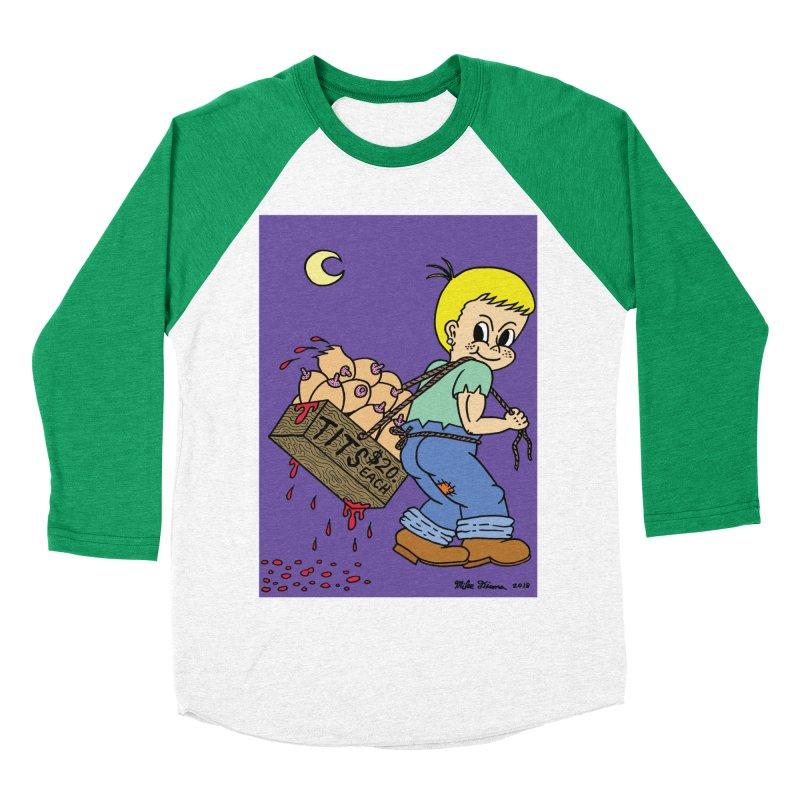 Mike Diana - Tit Boy Men's Baseball Triblend Longsleeve T-Shirt by Mike Diana T-Shirts Mugs and More!