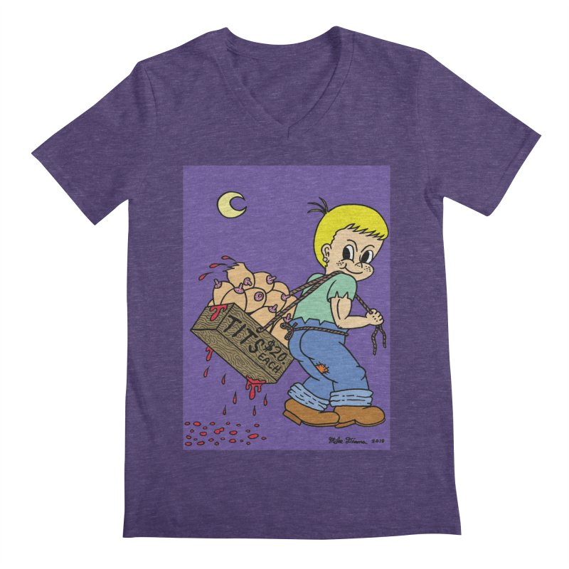 Mike Diana - Tit Boy Men's Regular V-Neck by Mike Diana T-Shirts Mugs and More!