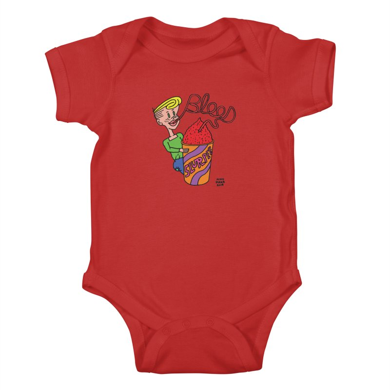 Blood Slurpee Kids Baby Bodysuit by Mike Diana T-Shirts Mugs and More!