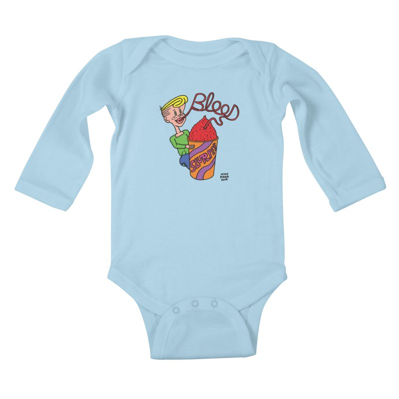 Blood Slurpee Kids Baby Longsleeve Bodysuit by Mike Diana T-Shirts Mugs and More!