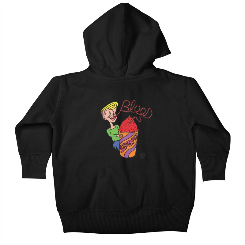 Blood Slurpee Kids Baby Zip-Up Hoody by Mike Diana T-Shirts Mugs and More!
