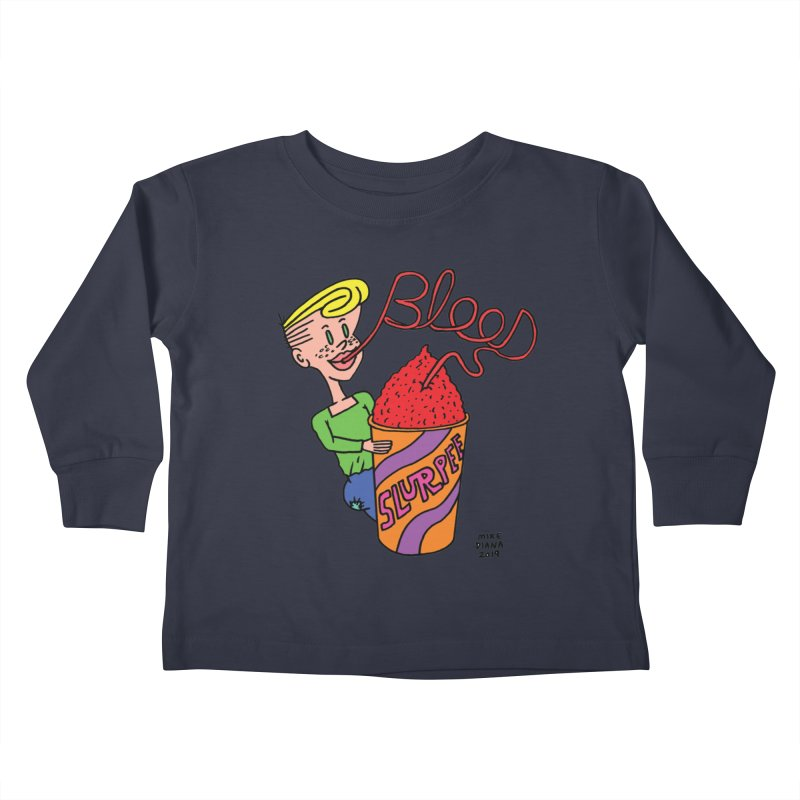 Blood Slurpee Kids Toddler Longsleeve T-Shirt by Mike Diana T-Shirts Mugs and More!