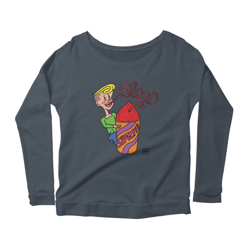 Blood Slurpee Women's Scoop Neck Longsleeve T-Shirt by Mike Diana T-Shirts Mugs and More!