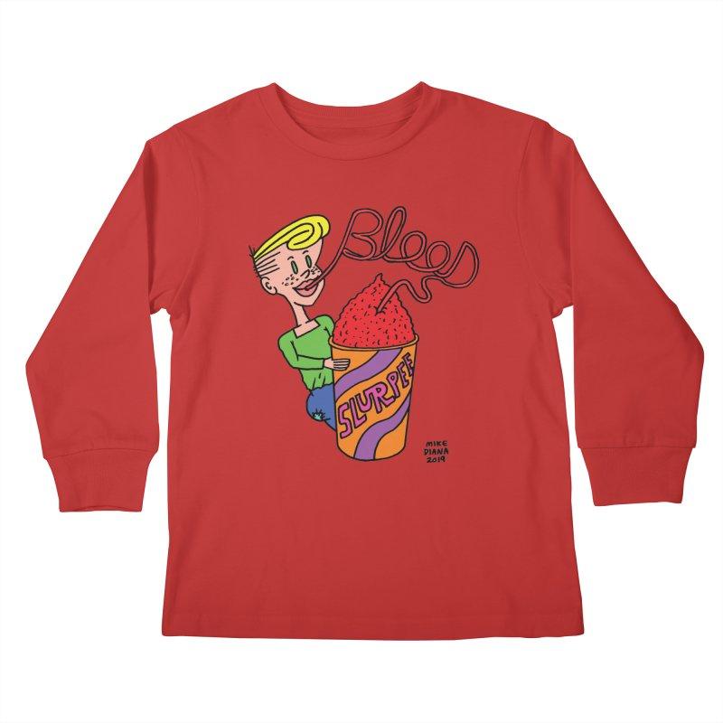 Blood Slurpee Kids Longsleeve T-Shirt by Mike Diana T-Shirts Mugs and More!