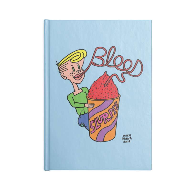 Blood Slurpee Accessories Lined Journal Notebook by Mike Diana T-Shirts Mugs and More!