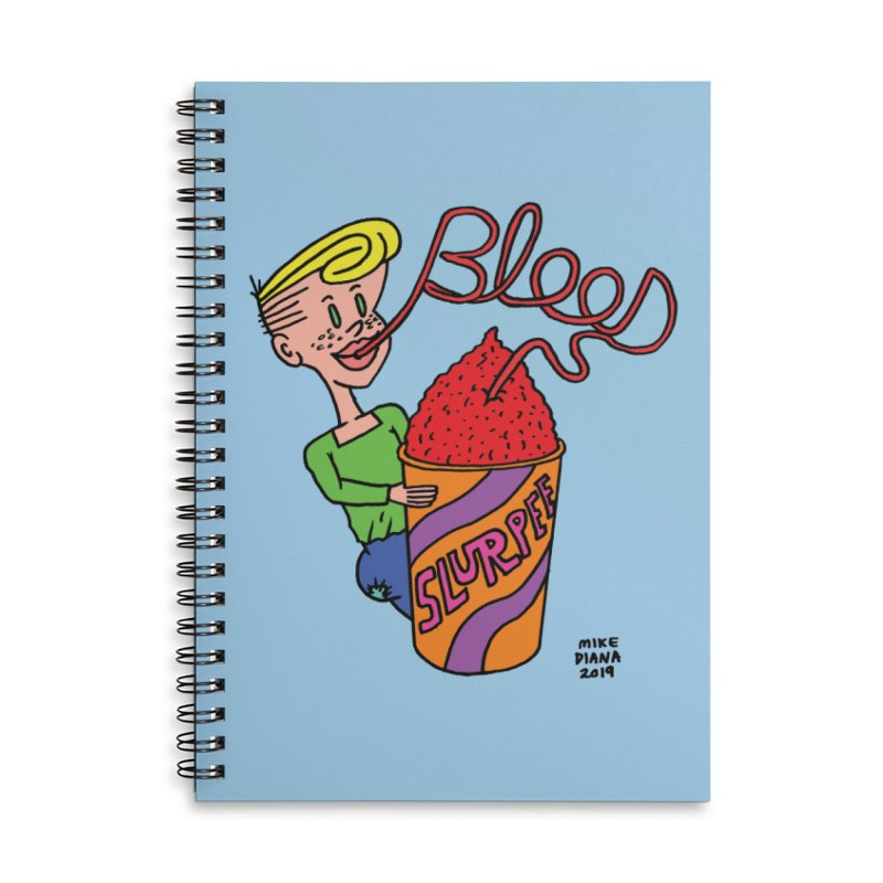 Blood Slurpee Accessories Lined Spiral Notebook by Mike Diana T-Shirts Mugs and More!