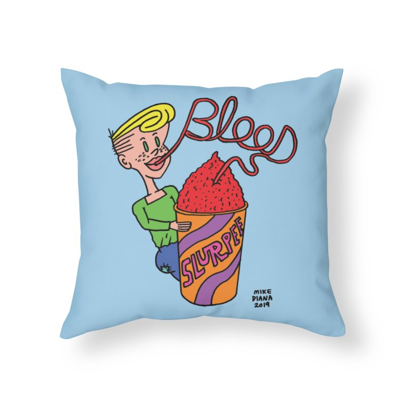 Blood Slurpee Home Throw Pillow by Mike Diana T-Shirts Mugs and More!