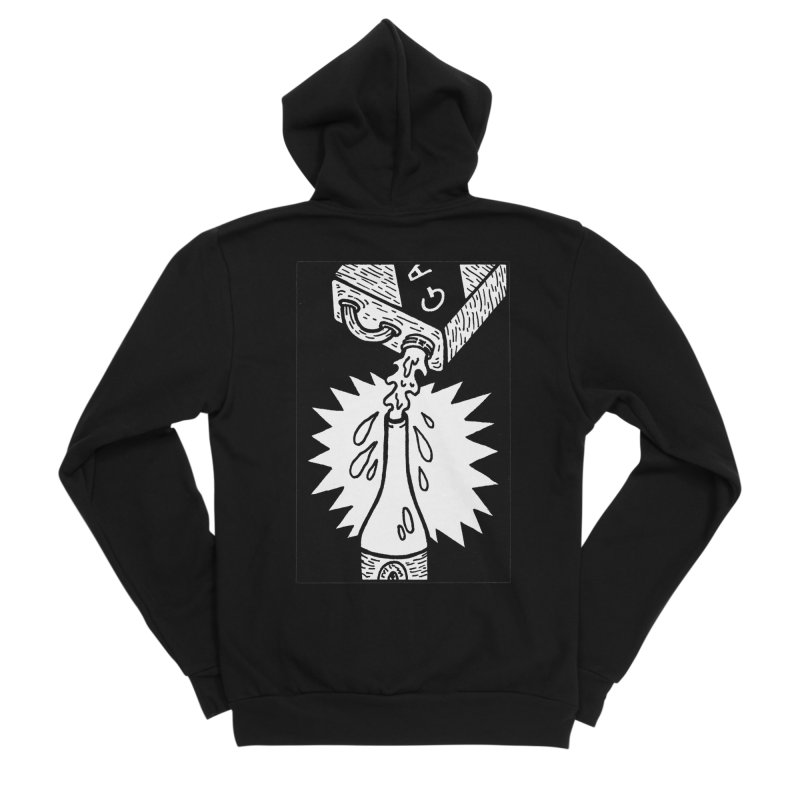 Can And Bottle Men's Sponge Fleece Zip-Up Hoody by Mike Diana T-Shirts Mugs and More!