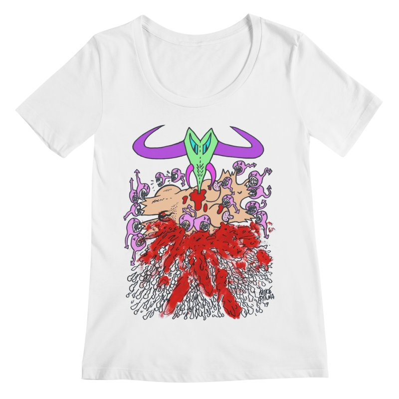 Tadpoles Women's Regular Scoop Neck by Mike Diana T-Shirts Mugs and More!