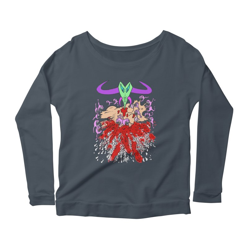 Tadpoles Women's Scoop Neck Longsleeve T-Shirt by Mike Diana T-Shirts Mugs and More!