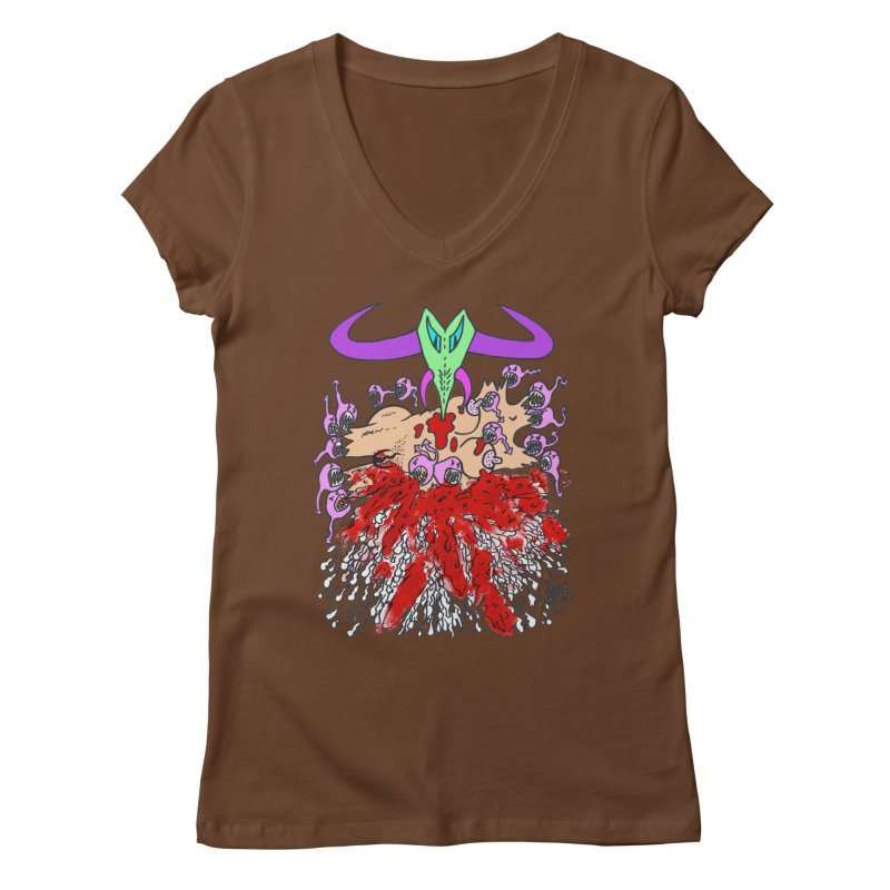 Tadpoles Women's Regular V-Neck by Mike Diana T-Shirts Mugs and More!