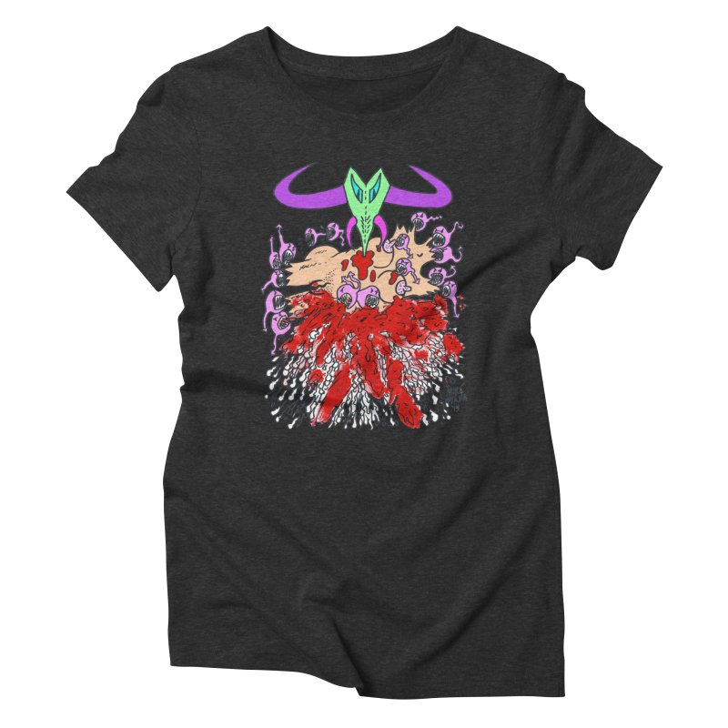 Tadpoles Women's Triblend T-Shirt by Mike Diana T-Shirts Mugs and More!
