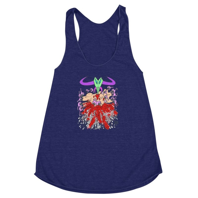 Tadpoles Women's Racerback Triblend Tank by Mike Diana T-Shirts Mugs and More!