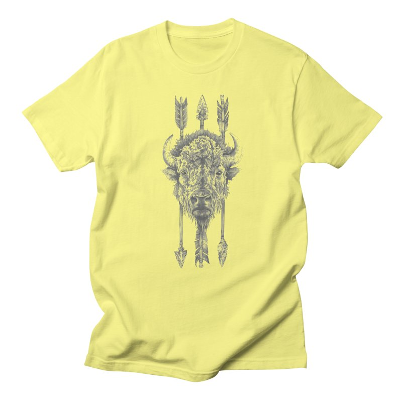Bison Sketched Men's T-shirt by Mike Kavanagh's Artist Shop