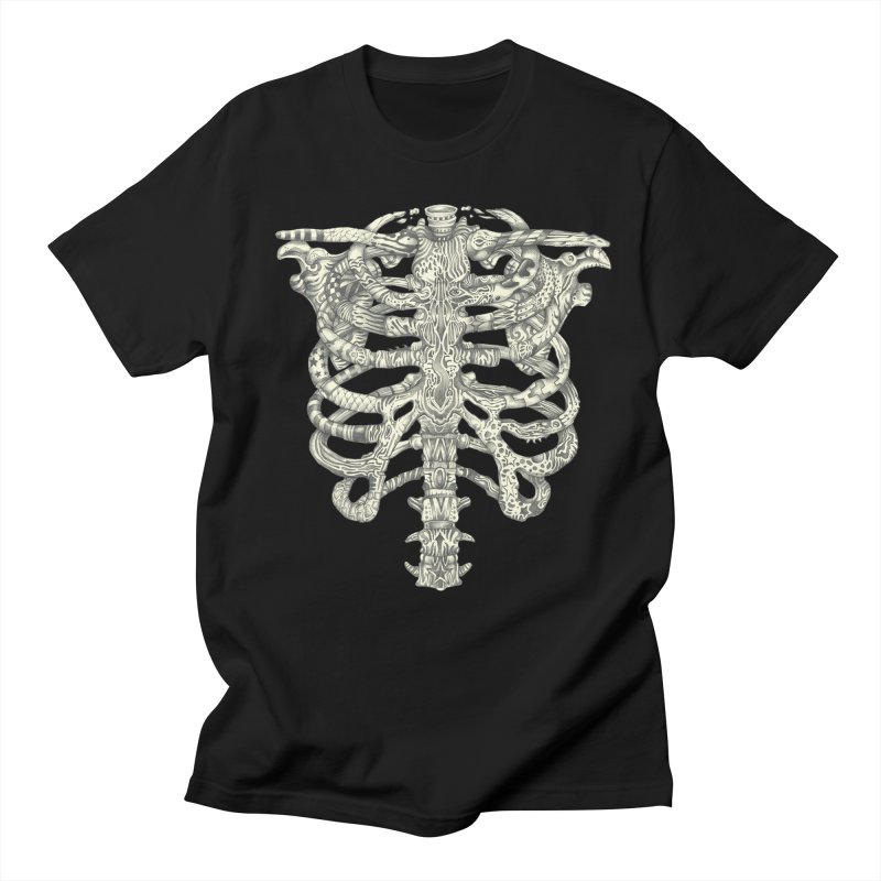 Caged in Men's Regular T-Shirt Black by Mike Kavanagh's Artist Shop