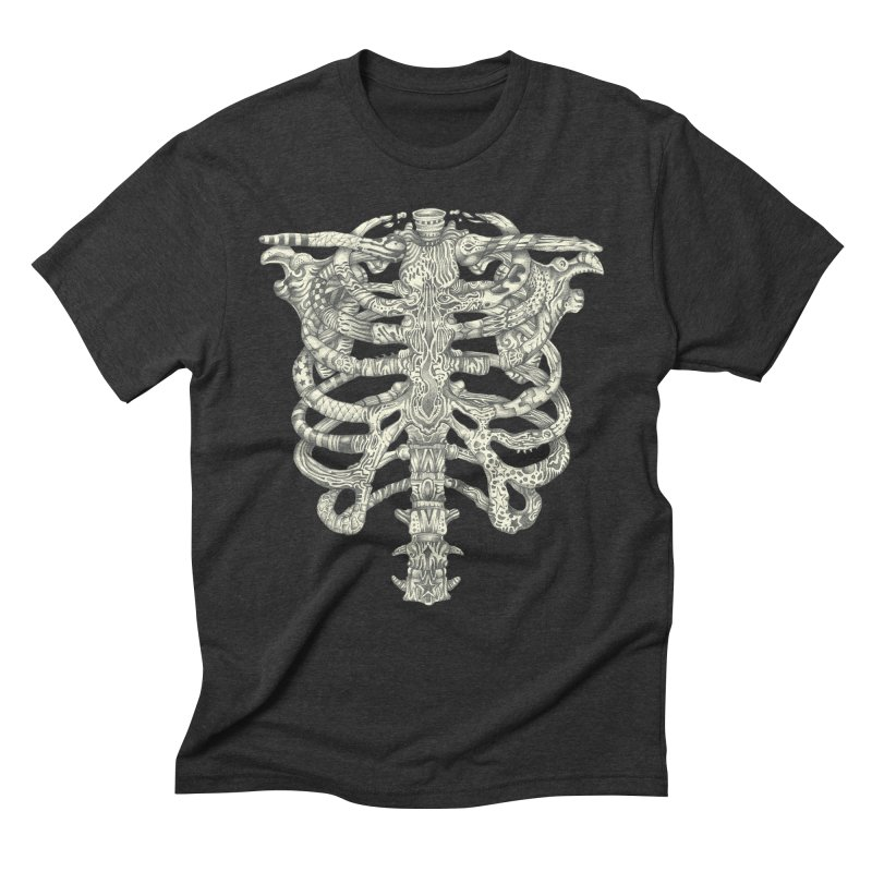 Caged Men's Triblend T-Shirt by Mike Kavanagh's Artist Shop
