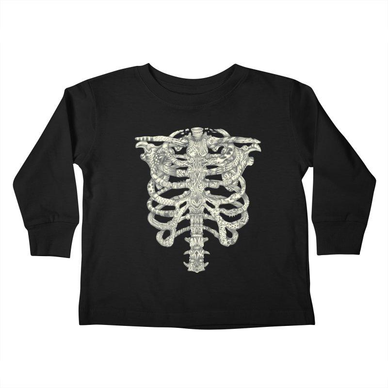 Caged Kids Toddler Longsleeve T-Shirt by Mike Kavanagh's Artist Shop