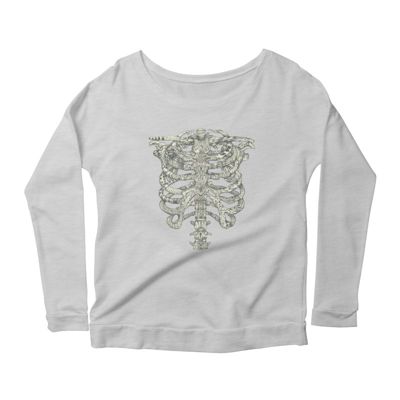 Caged Women's Longsleeve Scoopneck  by Mike Kavanagh's Artist Shop