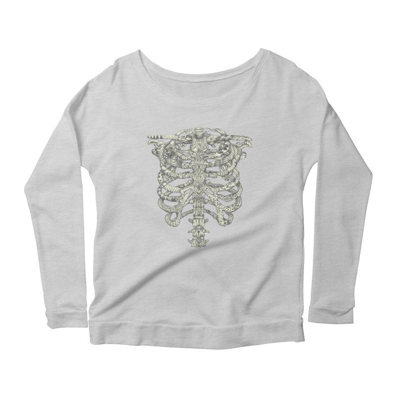 Caged Women's Scoop Neck Longsleeve T-Shirt by Mike Kavanagh's Artist Shop