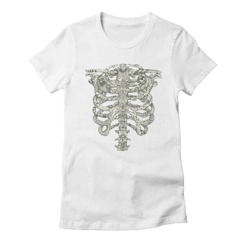 Caged Women's Fitted T-Shirt by Mike Kavanagh's Artist Shop