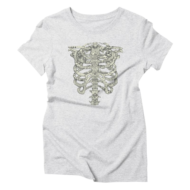 Caged Women's Triblend T-Shirt by Mike Kavanagh's Artist Shop