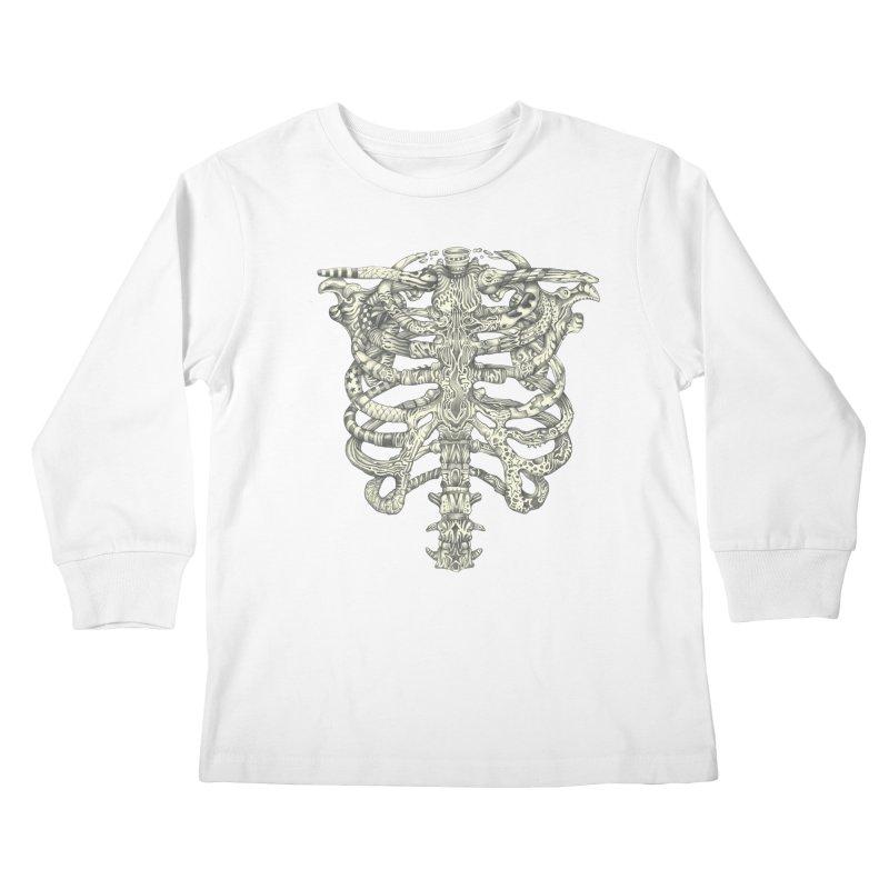 Caged Kids Longsleeve T-Shirt by Mike Kavanagh's Artist Shop