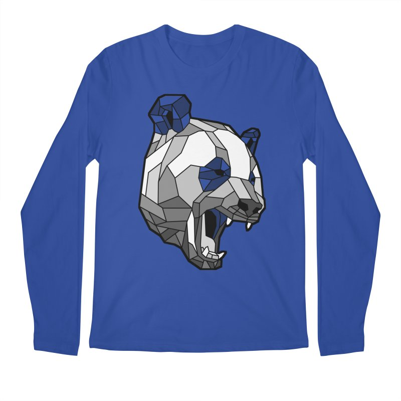 Panda Roar Men's Regular Longsleeve T-Shirt by Mike Kavanagh's Artist Shop