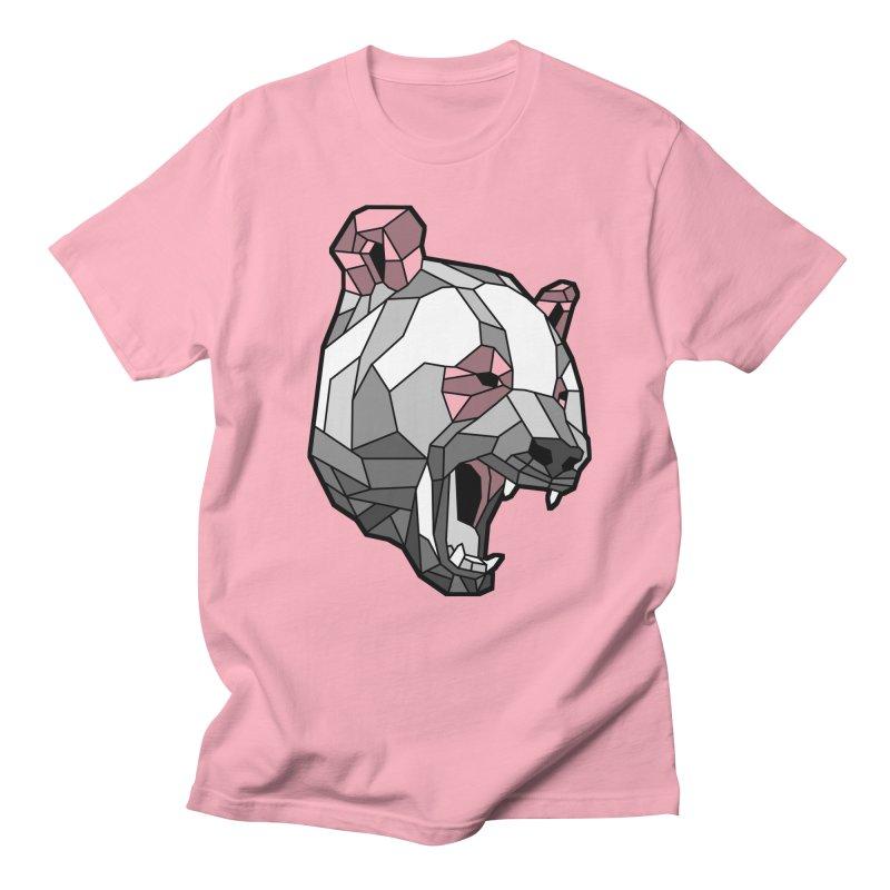 Panda Roar Men's Regular T-Shirt by Mike Kavanagh's Artist Shop