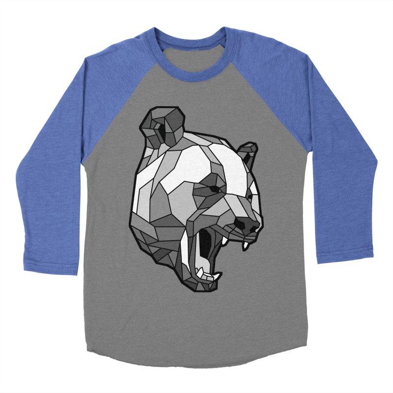 Panda Roar Women's Baseball Triblend T-Shirt by Mike Kavanagh's Artist Shop