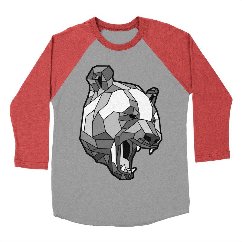 Panda Roar Women's Baseball Triblend Longsleeve T-Shirt by Mike Kavanagh's Artist Shop