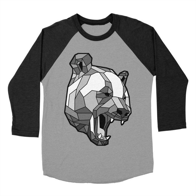 Panda Roar Men's Baseball Triblend Longsleeve T-Shirt by Mike Kavanagh's Artist Shop