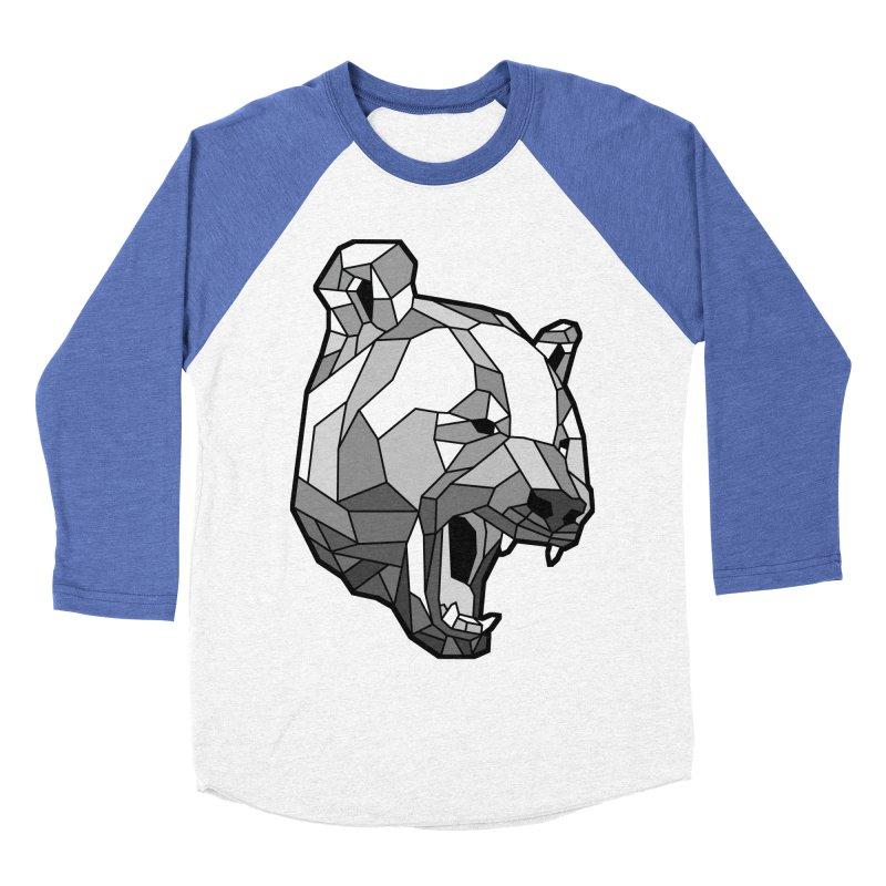 Panda Roar Men's Baseball Triblend T-Shirt by Mike Kavanagh's Artist Shop