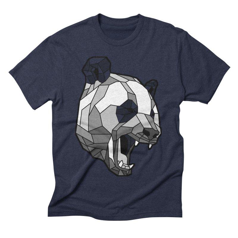 Panda Roar Men's Triblend T-shirt by Mike Kavanagh's Artist Shop