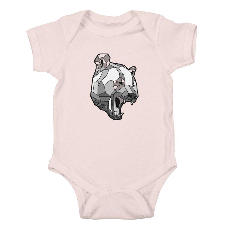 Panda Roar Kids Baby Bodysuit by Mike Kavanagh's Artist Shop