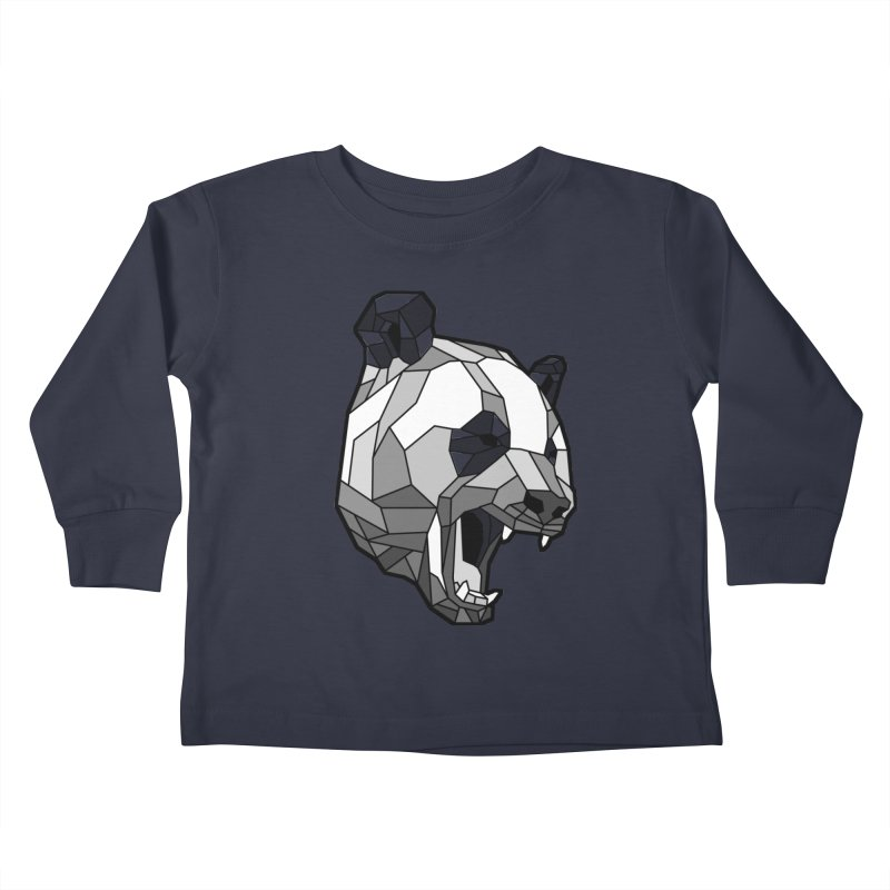 Panda Roar Kids Toddler Longsleeve T-Shirt by Mike Kavanagh's Artist Shop