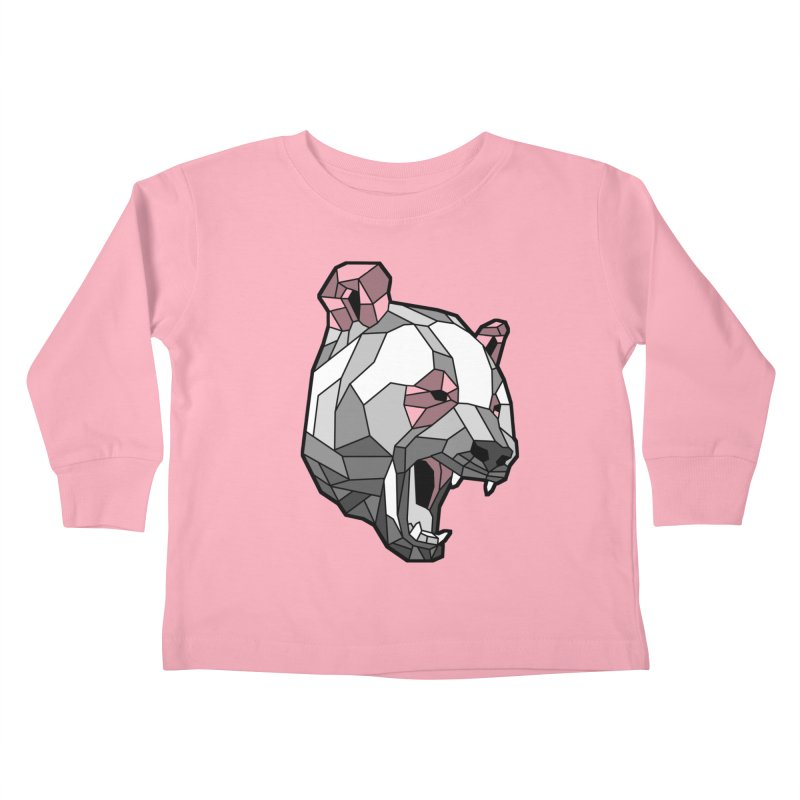 Panda Roar Kids Toddler Longsleeve T-Shirt by Mike Kavanagh's Artist Shop