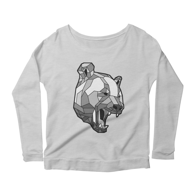 Panda Roar Women's Longsleeve Scoopneck  by Mike Kavanagh's Artist Shop