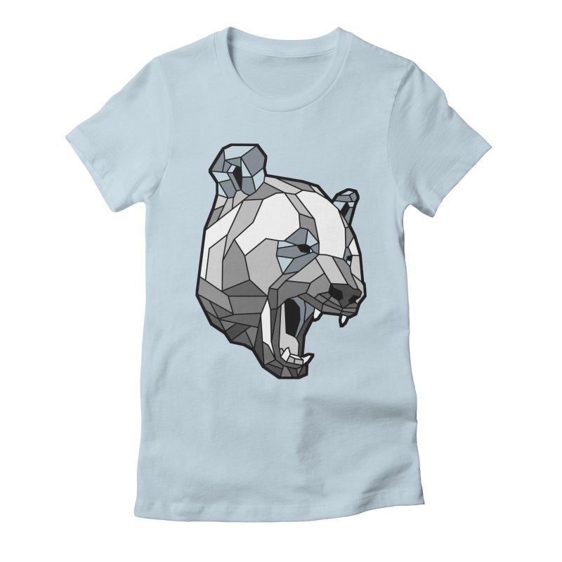 Panda Roar Women's Fitted T-Shirt by Mike Kavanagh's Artist Shop