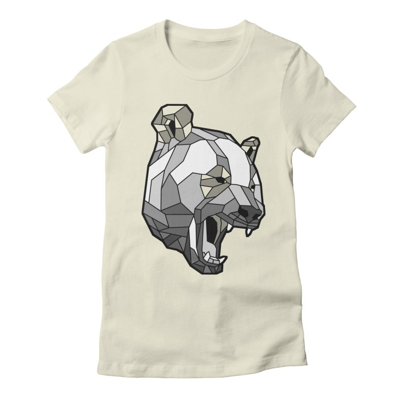 Panda Roar Women's Fitted T-Shirt by Mike Kavanagh's Artist Shop