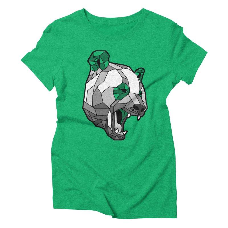 Panda Roar Women's Triblend T-Shirt by Mike Kavanagh's Artist Shop